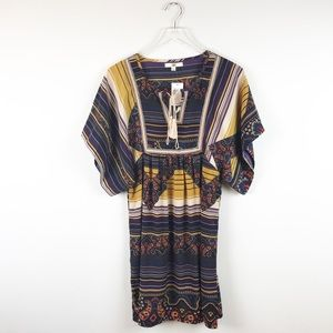 NEW Ya Los Angeles Multi Colored Tunic Size L